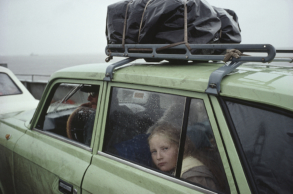 ©Claudine Doury-Bac sur l'Amour, Khabarovsk 1991- série Le fleuve Amour-1