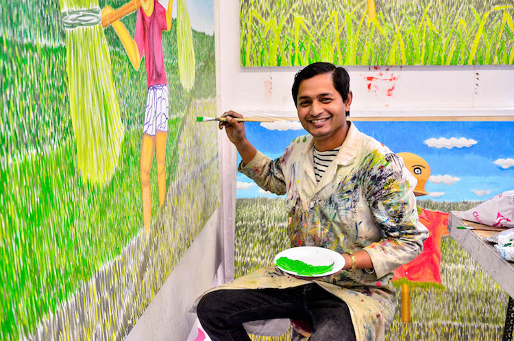 I want to be the new Picasso or Leonardo da Vinci, not the same style but... Rajeeb from Bangladesh