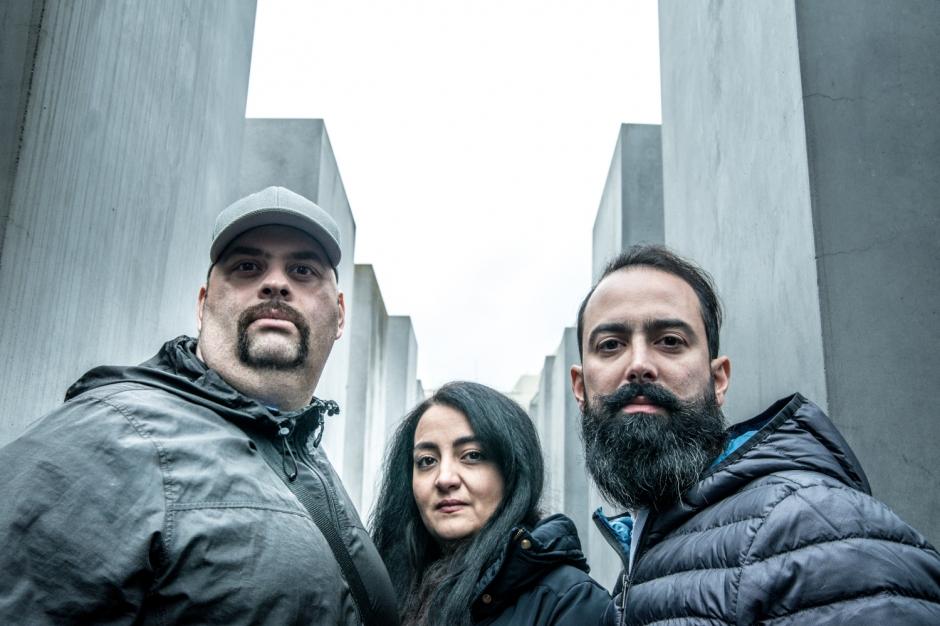 Kouros, Azadie and Roozbeh from Teheran, Iran visiting Berlin. © Oana Ban