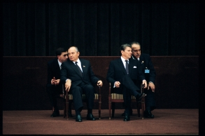 Reagan & Gorbachev, the first Summit. 